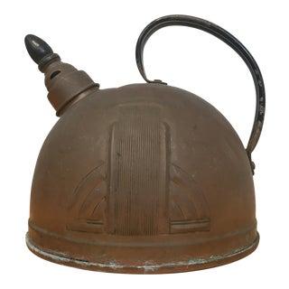 Solid Copper Art Deco Teapot C.1930s