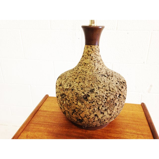 Mid Century Modern Cork Lamp Chairish