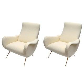 Italian Zanuso Style Chairs