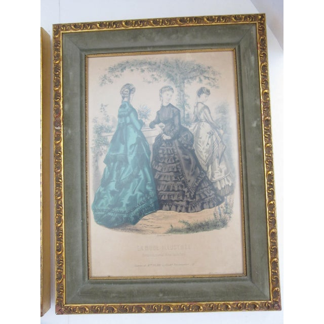 Antique French Fashion Prints - A Pair - Image 5 of 8