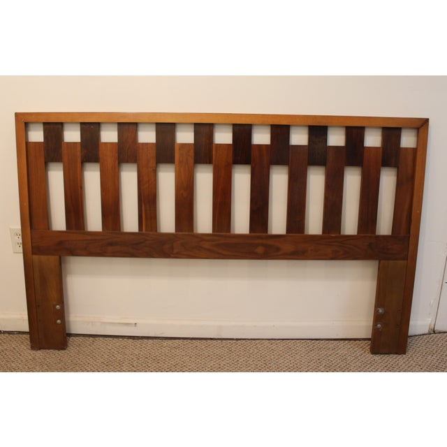mid century danish modern walnut queen size headboard. Black Bedroom Furniture Sets. Home Design Ideas