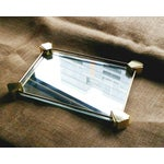 Image of Deco Style Glam Mirrored Brass Vanity Tray
