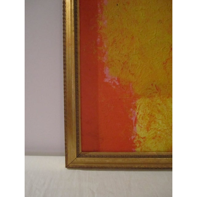 Abstract Painting Paris Signed Framed Acrylic - Image 6 of 11