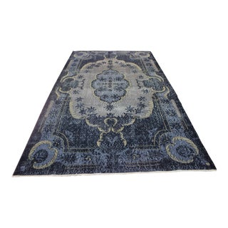 Blue Turkish Oushak Rug - 5′10″ × 9′10″