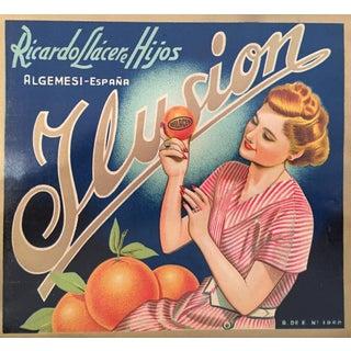 1930s Vintage Spanish Label, Ilusion