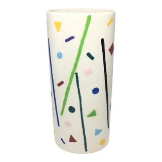 Post Modern Memphis Style Ceramic Vase