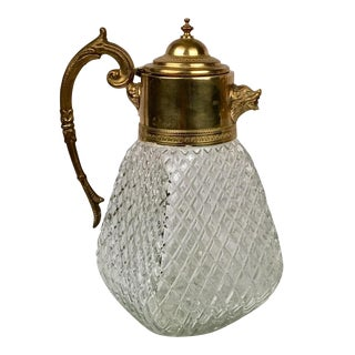 Brass & Crystal Pitcher