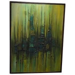 Image of Ollie Thompson Painting - Fade to Blue