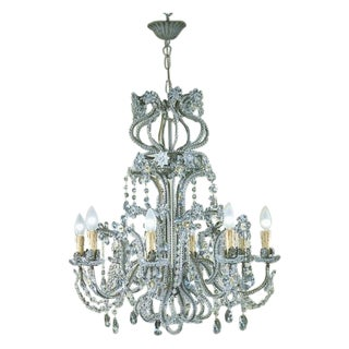 8 Lights Iron and Crystal Chandelier