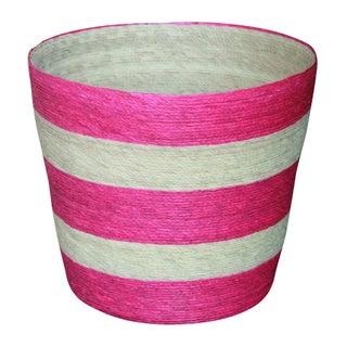 Palm Leaf Hand-Crafted Waste Basket