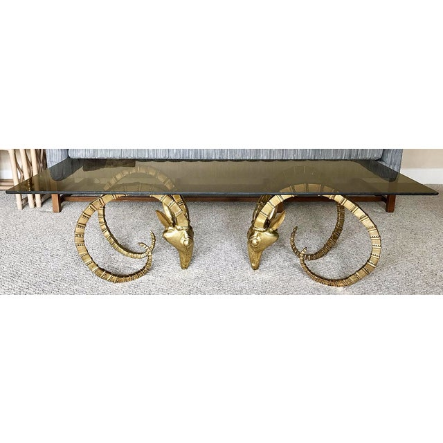 Brass Ram Base Coffee Table - Image 6 of 6