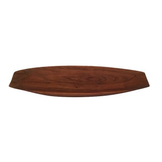 Mid-Century Staved Teak Tray in the Style of Dansk