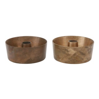 Mid-Century Brass Candle Holders - A Pair