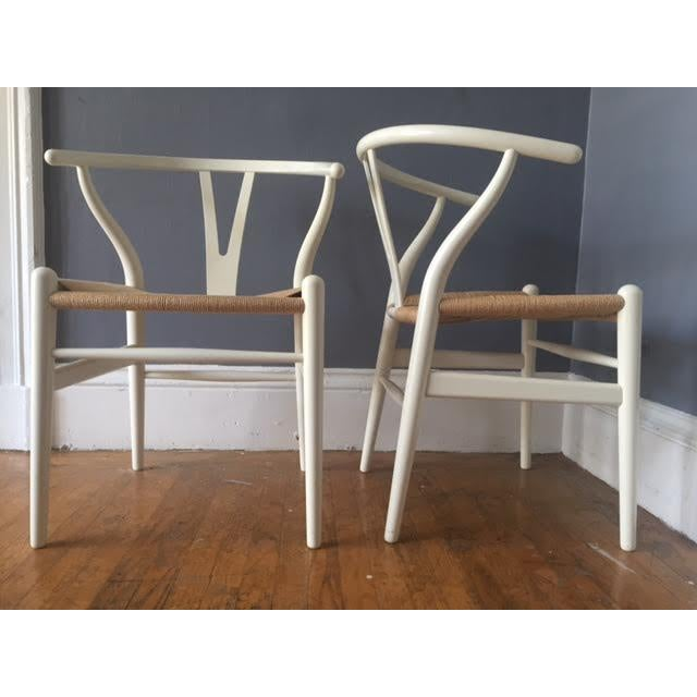 Hans Wegner Wishbone Chairs- A Pair - Image 2 of 5
