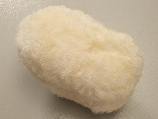 image of sheep ottoman with faux fur