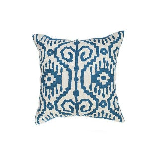 Blue & White Kashmiri Pillow Set - A Pair