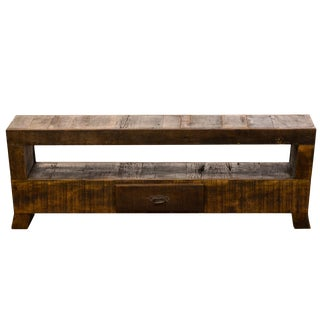 Reclaimed Solid Wood Media Console
