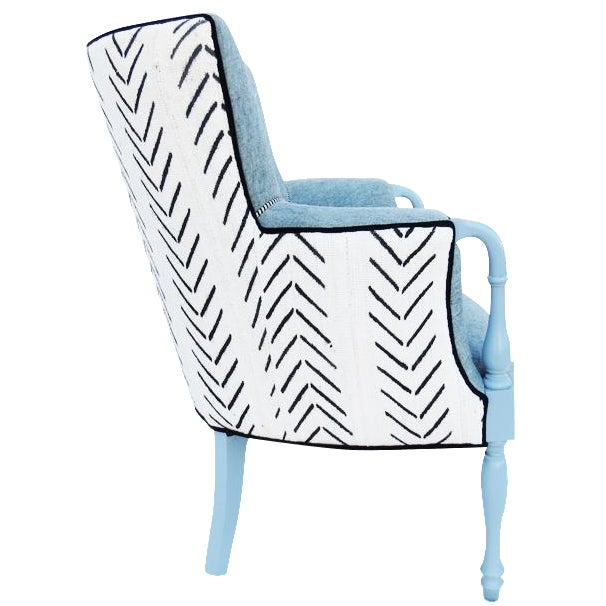 Black & White Mud Cloth Armchair - Image 1 of 5