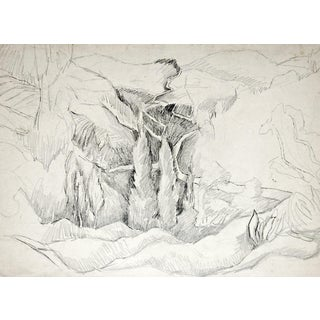 Rugged Landscape Pencil Study by George Baer