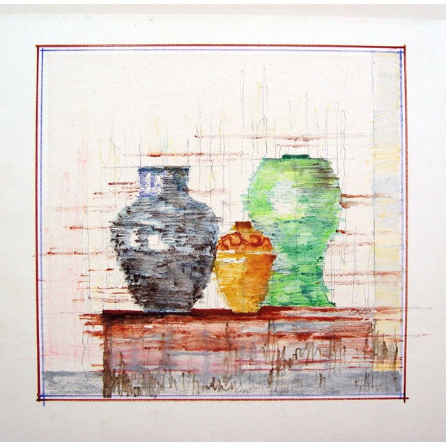 Image of Modernist Still Life of Pottery