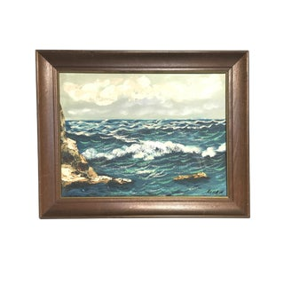Italian Seascape Oil Painting