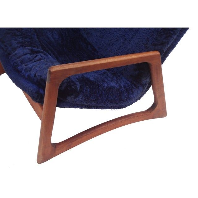 Adrian Pearsall for Craft Blue Lounge Chair - Image 3 of 10