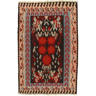 Vintage Turkish Kilim Rug - 8' X 12'