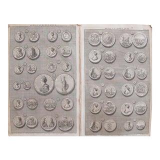Original 1745 British Engravings, Royal Heraldic Medals - A Pair