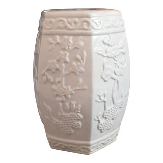 Vintage Blanc De Chine Chinese Garden Stool