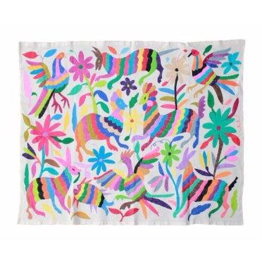 Hand-Woven Tenango Wall Decor Textile - Image 3 of 4