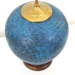 Image of Hollywood Regency Turquoise Pottery Lamp