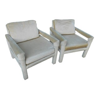 Drexel Parsons Style Club Chairs - A Pair