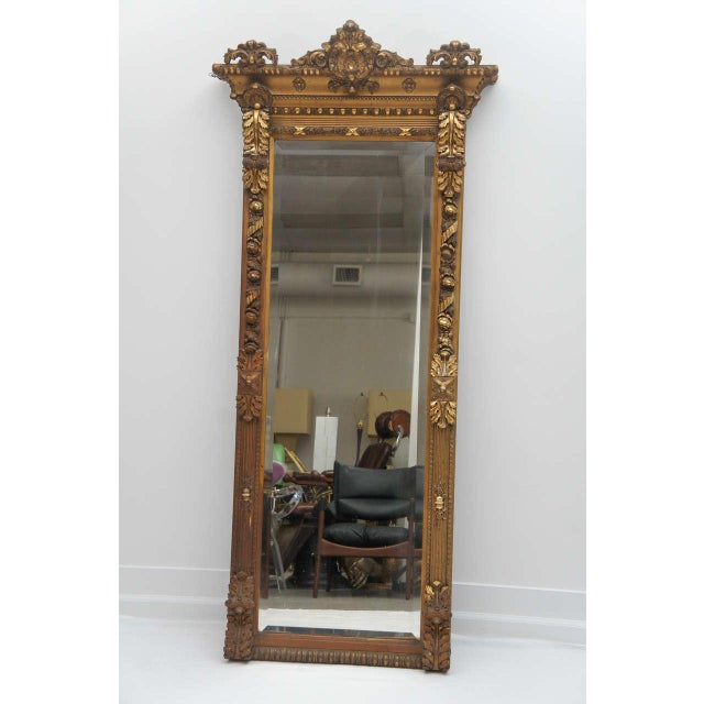 Gold Gilded Floor or Mantle Mirror - Image 2 of 9
