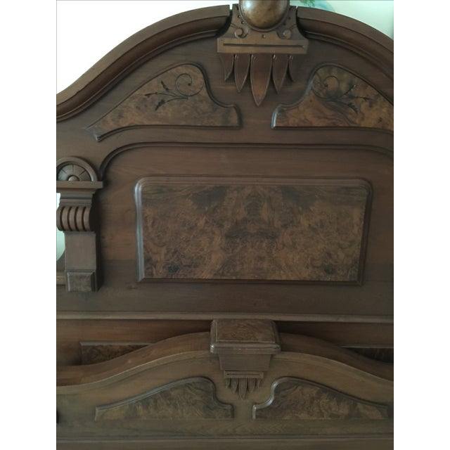 Image of Victorian 1800's Headboard, Footboard and Rails