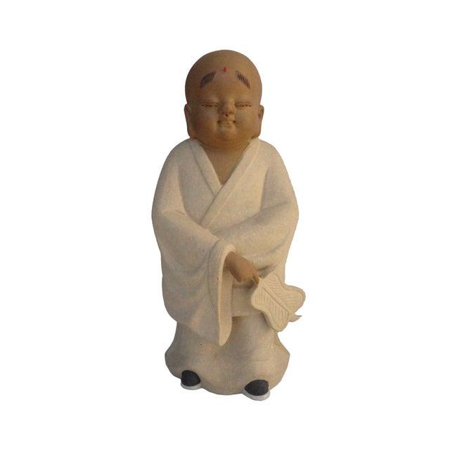 Chinese Ceramic Monk Buddha Lo Han Figurine - Image 1 of 4