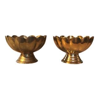 Pair of Brass Decorative Pedastal Bowls