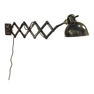 "Christian Dell ""scissor"" wall sconce"