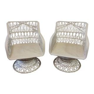 Russell Woodard Spun Fiber Glass Chairs - A Pair
