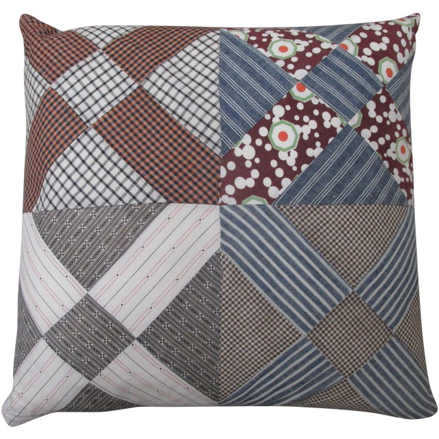 Image of Vintage Patchwork Americana Pillow