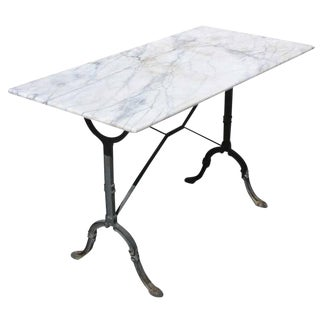 "Late 19th Century French Country ""Baker's"" Table with Marble Top"