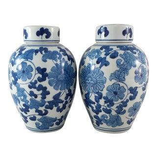 Chinoiserie Ginger Jars - A Pair