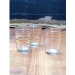 Image of Glass Cordial Set With Gold Detailing