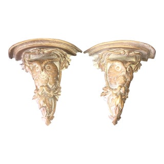 Owl Sconce Shelves - A Pair