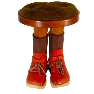Wooden Shoes Foot Stool