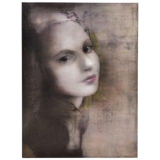 """""""Young Woman"""" Oil on Canvas by Jacqueline Devreux"""