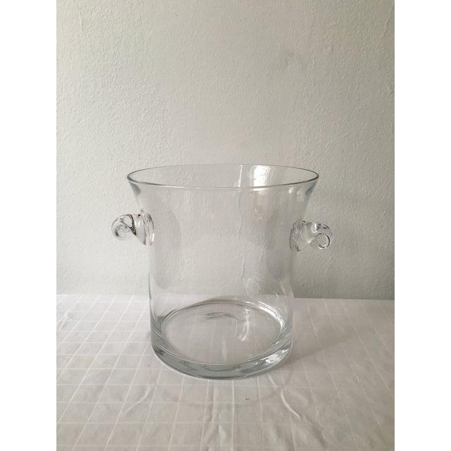 Image of Vintage Handled Glass Ice Bucket