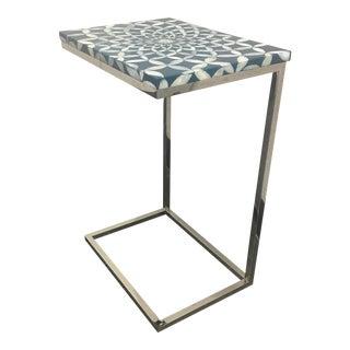 New Palecek Inlaid Shell Sofa Table