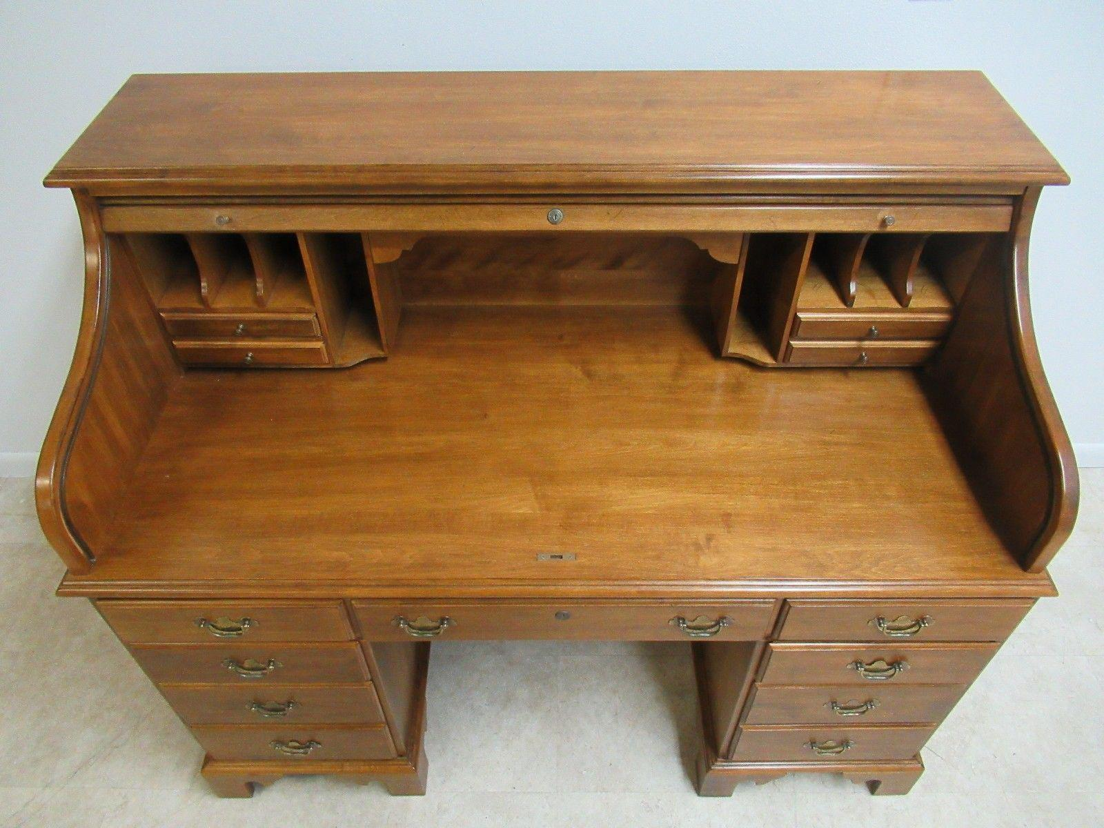 Ethan Allen Roll Top Writing Desk  Chairish. Barn Board Table. Target Round Dining Table. Kdk Desk Fan. Free Desk Chair. Crib Drawer. Glass Top Table. Desk Small. Japanese Desk Accessories