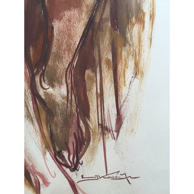Watercolor Nude Emil Kosa Jr. Renowned Artist 1950 - Image 3 of 5