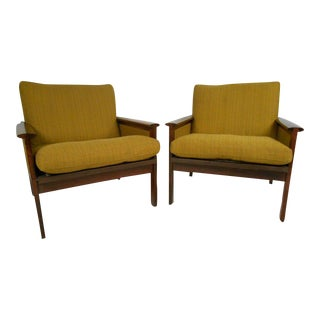 Pair of Danish Rosewood Lounge Chairs